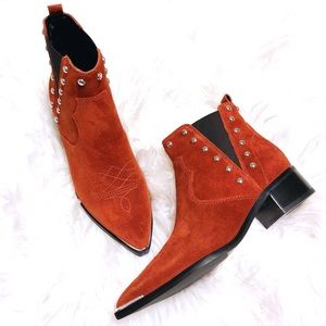 Marc Fisher Yente Chelsea Suede Western Boot